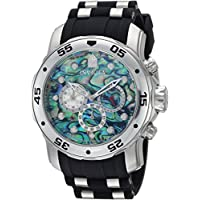Invicta Men's 'Pro Diver' Quartz Stainless Steel and Polyurethane Casual Watch, Color:Black (Model: 24838)