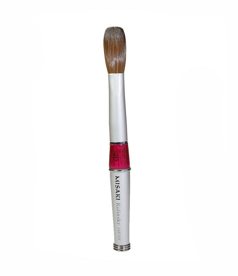 Amazon.com : X5 Super Kolinsky England Acrylic Nail Brush (Size #20 ...