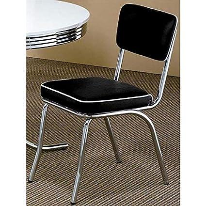 Superieur Black Retro Chrome Chairs (Set Of 2) Chrome Mid Century Chairs Modern Chair  Milo