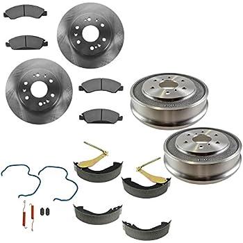 Nakamoto Front /& Rear Premium Posi Metallic Brake Pad /& Rotor Kit for GM Truck
