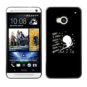 A-type Arte & diseño plástico duro Fundas Cover Cubre Hard Case Cover para HTC One M7 (Gracioso - Resumen Flying Bananas)