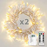 Koxly 2 Pack 16.4ft 50 LED Battery Operated