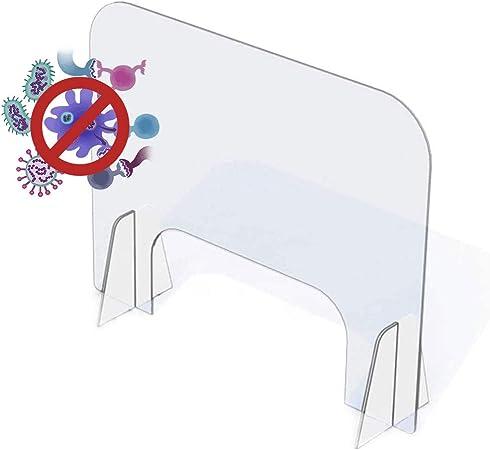 Douer Pantalla Protección Mostrador, Mampara Protectora, Transparente Mampara Metacrilato Protectora con Soporte, para Mostradores Y Ventillas De Transacciones,90×60cm/36×24in: Amazon.es: Hogar