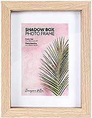 Cooper & Co. 15 x 20 cm Matt to 10 x 15 cm Shadow Box Wooden Photo Frame Set of 2 Pieces, Oak