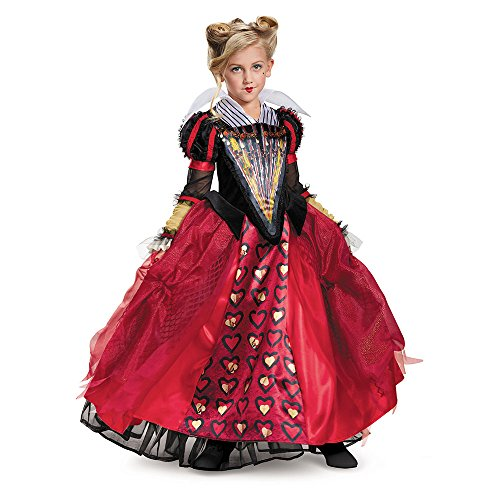 Disney Movies Halloween Costumes (Red Queen Deluxe Alice Through The Looking Glass Movie Disney Costume, Medium/7-8)