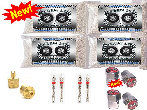 4-8oz bags Checkered Flag Tire Platinum Level balance Beads, 285 75r16, 295 75r16, 305 70r16, 315 75r16, 315 75r17, 285 70r18, 285 75r18, 295 70r18, 305 70r18, 315 70r18, balancing beads by Checkered Flag Tire Beads
