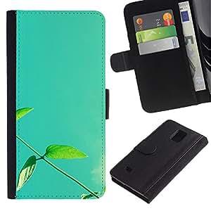Planetar® Modelo colorido cuero carpeta tirón caso cubierta piel Holster Funda protección Para Samsung Galaxy Note 4 IV / SM-N910 ( Plant Nature Forrest Flower 13 )