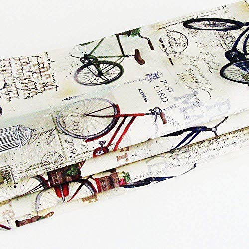 Vintage Bicycles Cotton Napkins (Set of 4) ME2Designs Handmade Table Decor