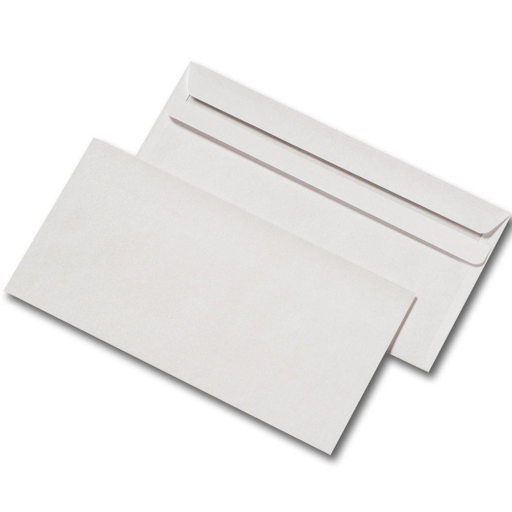 5000 busta lettere form. lunghezza 110 x 220 mm senza finestra autoadesivo bianco Mayer Kuvert