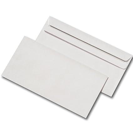 1000 Briefumschl/äge selbstklebend DinLang ohne Fenster