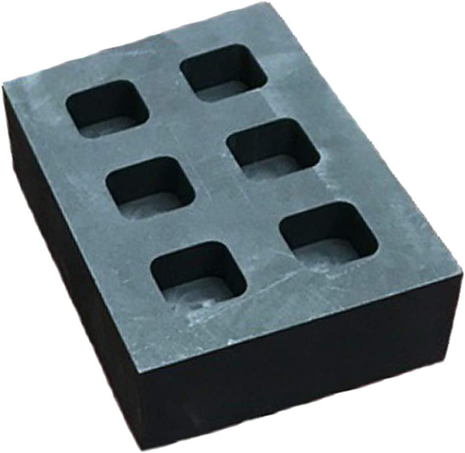 F Fityle High Purity Graphite Ingot Mold Melting Casting Mould for Gold Silver Metal 2 Slots