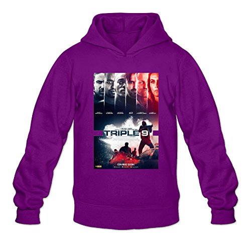 Chris-T Triple 9 Men's Long Sleeve Hoodie Sweatshirt Purple US Size XXL]()