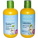 JASON Kids Daily Clean All Natural Organic Shampoo & Conditioner Bundle (With Aloe Vera, Calendula and Chamomile) For Men, Women & Children, Tear Free Formula, 8 fl. oz. each