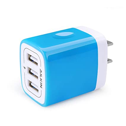 USB Charger Multi Port, Ailkin Micro USB Charger Charging Block USB Wall Plug Travel Charger Outlet Fast Charger Brick USB Charging Block Compatible ...