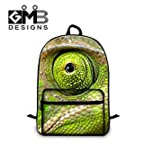 Generic Chameleon 3D Print School Backpack for Teen Boys Mens Fashion Laptop Computer BackPack