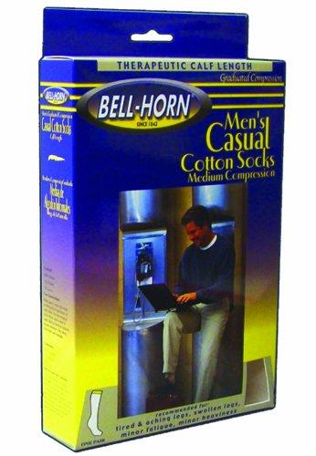 Men's Casual Socks White 20-30 mmHg Medium by DJO / Bell-Horn (a)