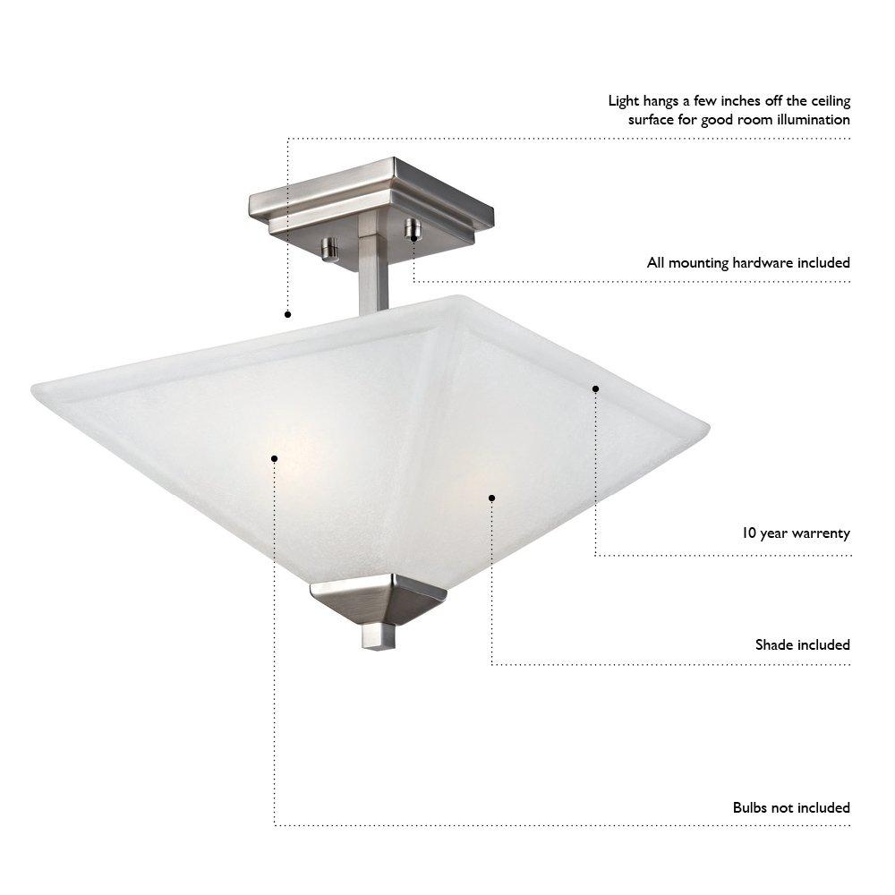 Design House 514521 Millbridge 1 Light Round Ceiling Light, Oil Rubbed Bronze by Design House (Image #2)