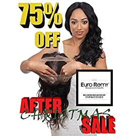 EURO REMY ERECS3007BW-S-N16 Brazilian Virgin 100% Unprocessed Human Hair Extensions 360 Lace Frontal Closure w/Adjustable Straps Bodywave 16 inches Natural