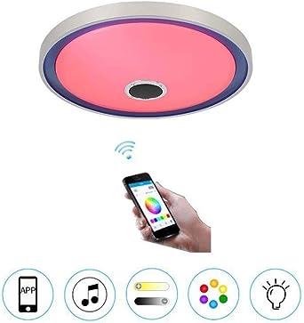 Música WiFi LED ronda de techo de luz con control remoto ...