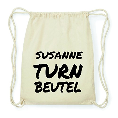 JOllify SUSANNE Hipster Turnbeutel Tasche Rucksack aus Baumwolle - Farbe: natur Design: Turnbeutel ZwUCj