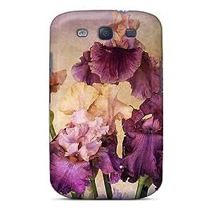 For Galaxy S3 Fashion Design Bouquet Of Irises Case-baZiW2413qoKQY