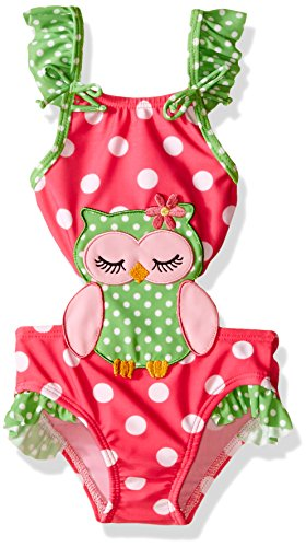 Sol Swim Baby Sleepy Owl Connector Swimsuit, Fuchsia, 18 Months