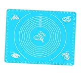 countertop rolling tray INCHANT Silicone Baking Mat,Pastry Mat for Rolling Dough,Rolling Sheet with Measurements Heat Resistance Table Placemat for Bake Pans & Rolling