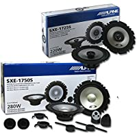 Alpine Package Deal 6.5-inch 6-1/2 2-way car component system & coax speakers