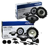 Alpine Package Deal 6.5-inch 6-1/2' 2-way car component system & coax speakers