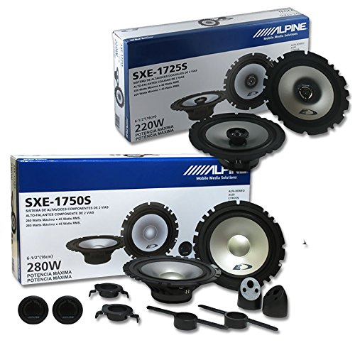 Component Coaxial Speakers (Alpine Package Deal 6.5-inch 6-1/2