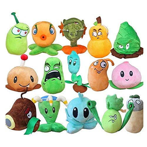 RAFGL 15Pcs/Lot Wholesale Plants Vs Zombies 2 Stuffed Plush Toys 13-20Cm PVZ Plants Doll Kids Gifts S3238 Must Have Tools Friendship Gifts The Favourite Anime Superhero Party Decorations by RAFGL