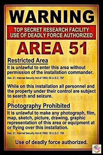AREA 51 Sign 8