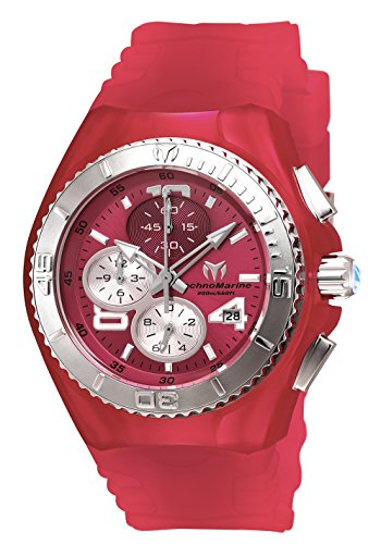 Technomarine Women's 'Cruise' Quartz Stainless Steel and Silicone Casual Watch, Color Pink (Model: TM-115107) (Chronograph Steel New Technomarine Stainless)