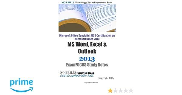 microsoft office specialist mos certification on microsoft office rh createspace com Excel Test Microsoft Excel 2010 Exam