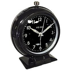 Westclox 75044BK Silent Sweep Bell Alarm Clock, Black
