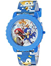 Sonic the Hedgehog SNC4028 - Reloj digital de cuarzo para niños, color azul