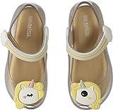 Mini Melissa Girls' Mini Ultragirl Unicorn Mary Jane Flat, Clear Tinted Glitter, 10 Regular US Toddler