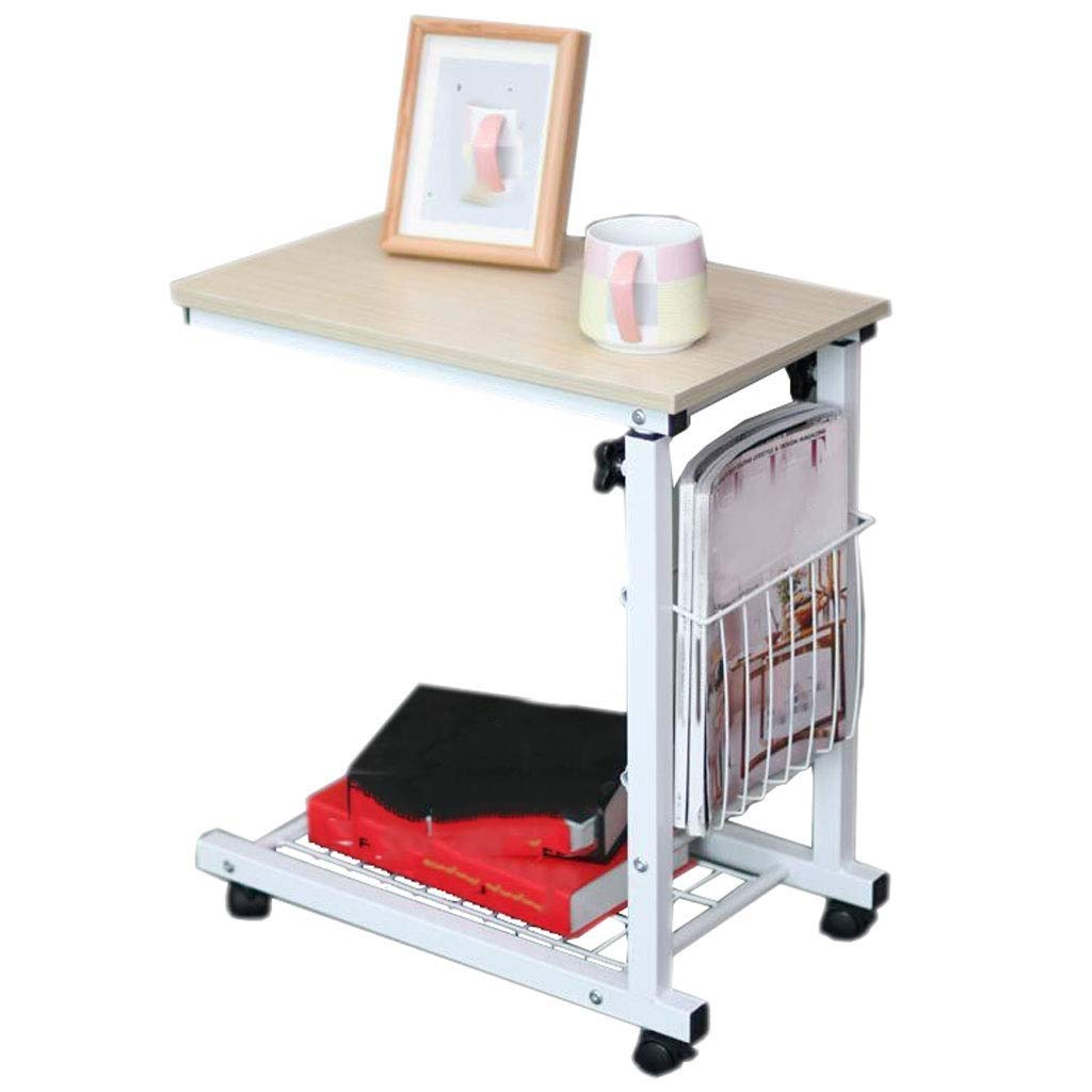 XUEXUE Adjustable Laptop Bed Table, Portable Standing Desk, Foldable Sofa Breakfast Tray Notebook Stand Reading Holder for Couch Kids Stopper Ledge Student Dorm Home Office