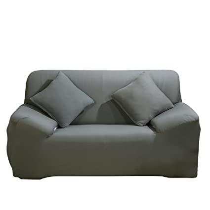 SHANNA Funda de sofá 1 2 3 4 Funda de sofá Funda de Asiento Antideslizante sofá sofá sofá elástico Tejido Protector por, Gris, 2-Seater Chair + 1pcs ...