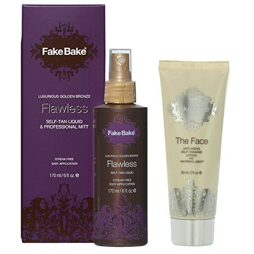 Fake Bake Flawless 6 Ounce + Anti-aging Face Lotion 2 Ounce with MatrixYL-3000 -
