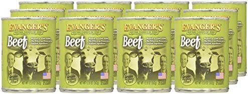 Evanger s All Natural Classic Beef Canned Dog Food – 12.8 oz. Set of 12
