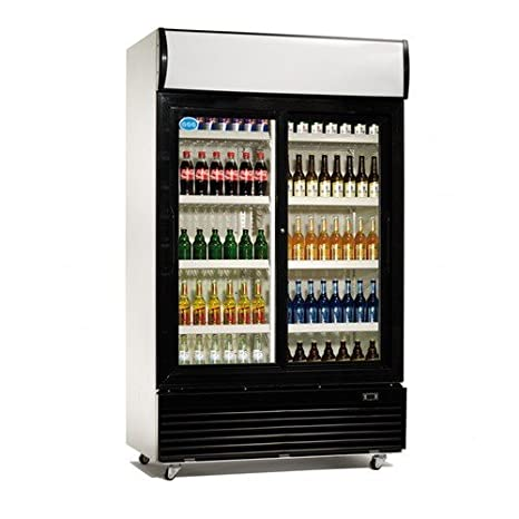 Máquina expendedora de enfriamiento de armario de 1000 L de botellas de vidrio con sistema de ventilación de la parte delantera de la nevera: Amazon.es: ...