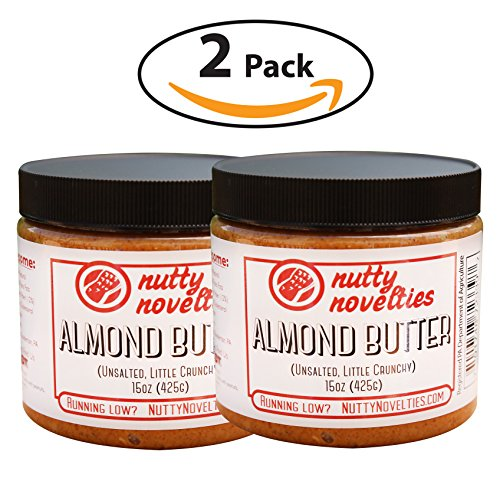 Nutty Novelties Classic Almond Butter - High Protein, Sweet Almond Butter - No Added Sugar - All-Natural, Pure Almond Butter Free of Cholesterol & Preservatives - Vegan Almond Butter - - Classic Jem