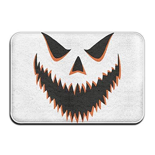 Halloween Pumpkin Indoor Outdoor Entrance Rug Non Slip Car Floor Mats Doormat Rugs for Home -