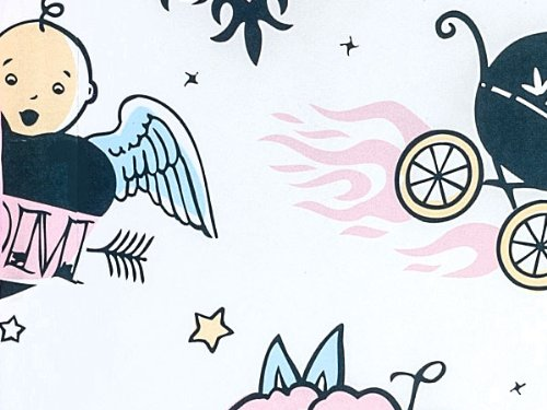 Tattoo Babies Baby Girl or Boy Gift Wrap - 16 Foot Roll