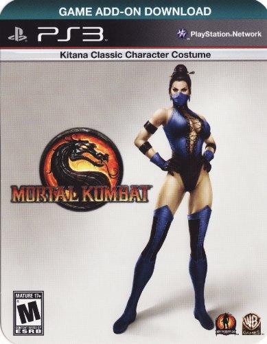 PLAYSTATION 3 Mortal Kombat Kitana Classic Costume & Fatality DLC Card