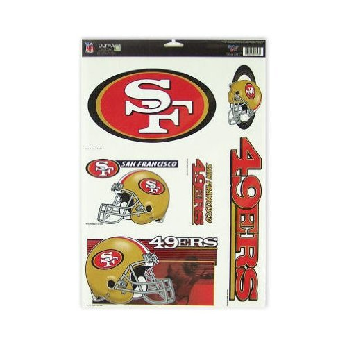 (WinCraft San Francisco 49ers Official NFL 11 inch x 17 inch Car Window Cling Decal by 037534 )