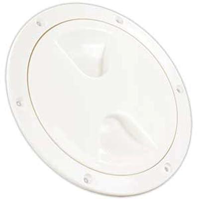 """JR Products 31025 Access/Deck Plate - 5"""", White: Automotive"""
