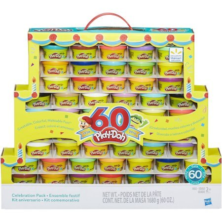 Play-Doh 60th Anniversary Celebration Pack (60 Cans)