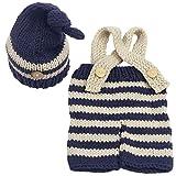 Jastore Newborn Infant Baby Boy Photography Prop Costume Cute Cap Pants (Style 8)